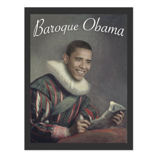 Baroque Obama Post Card