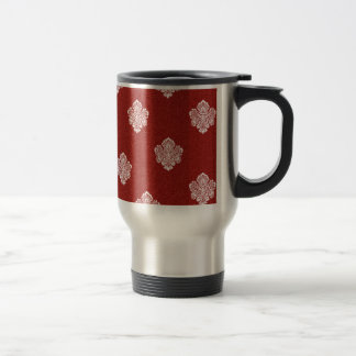 baroque, ornaments, ornamental, red, cherry, white coffee mugs