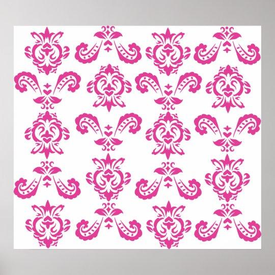 Baroque Pink Print