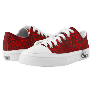 baroque red pattern printed shoes