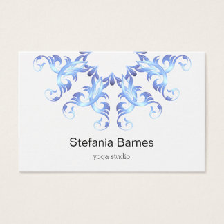 Baroque style circles blue gradient element. business card