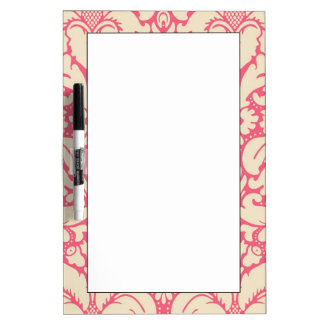 Baroque style damask background 2 dry erase board