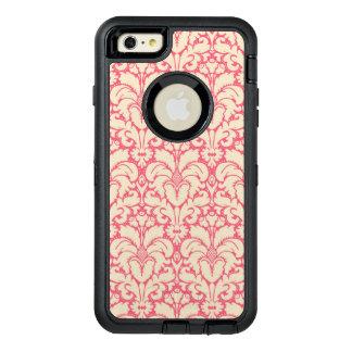 Baroque style damask background 2 OtterBox defender iPhone case