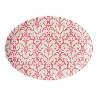 Baroque style damask background 2 porcelain serving platter