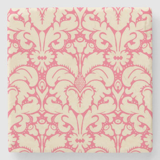 Baroque style damask background 2 stone beverage coaster