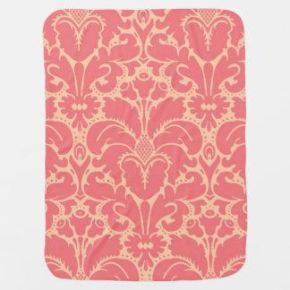 Baroque style damask background baby blanket