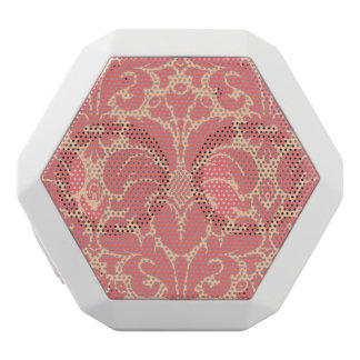 Baroque style damask background white boombot rex bluetooth speaker
