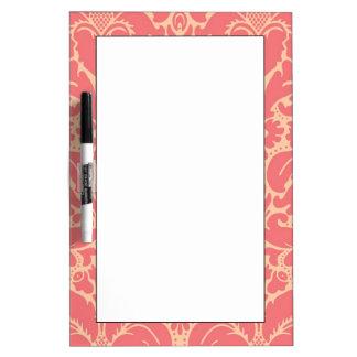 Baroque style damask background dry erase board