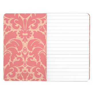 Baroque style damask background journal