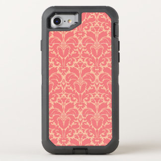 Baroque style damask background OtterBox defender iPhone 8/7 case