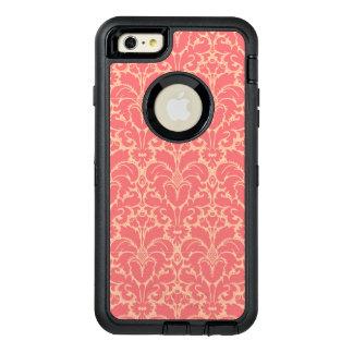 Baroque style damask background OtterBox defender iPhone case