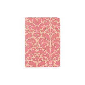 Baroque style damask background passport holder