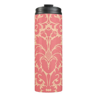 Baroque style damask background thermal tumbler