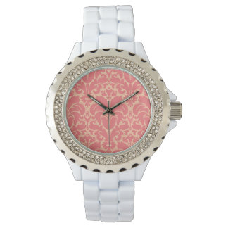 Baroque style damask background watch