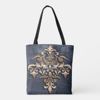 baroque style element tote bag