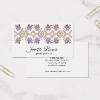 Baroque style floral element. business card