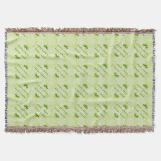 baroque style lime pattern. throw blanket