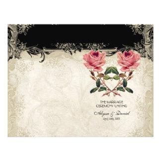Baroque Style Vintage Rose Black n Cream Lace 21.5 Cm X 28 Cm Flyer