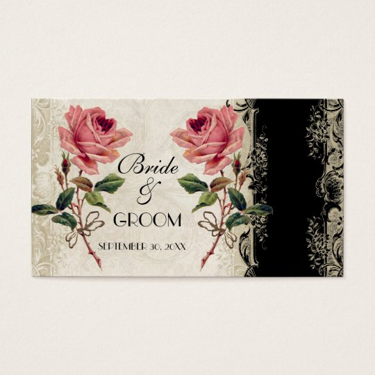 Baroque Style Vintage Rose Gift Registry Card