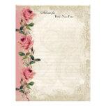Baroque Style Vintage Rose Lace Flyer Design