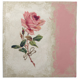 Baroque Style Vintage Rose Lace Napkin