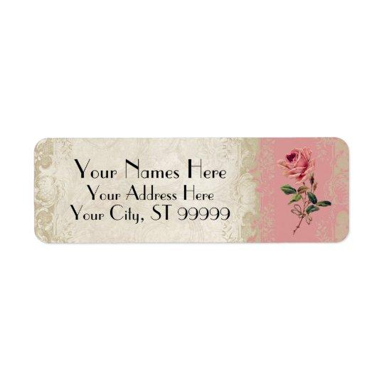 Baroque Style Vintage Rose Lace Return Address Label