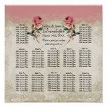 Baroque Style Vintage Rose Reception Seating Chart