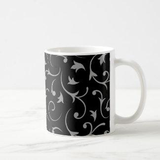 Baroque Swirls – Black & Grey Coffee Mug