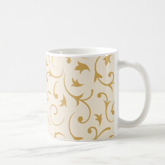 Baroque Swirls – Cream & Gold Coffee Mug