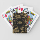 Baroque Swirls Monogram Bicycle® Playing Cards