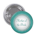 Baroque Turquoise Plaque Wedding Role Button