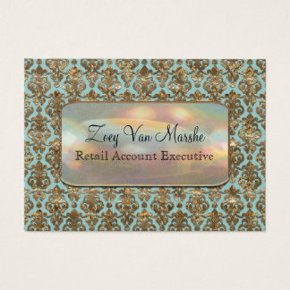 Baroque Van Marcha Elegant Damask Professional Business Card