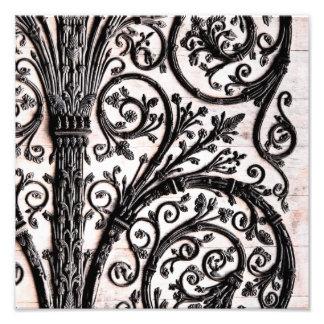 Baroque Vintage Architectural Decorative Ironwork Photographic Print
