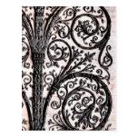 Baroque Vintage Architectural Decorative Ironwork Postcard