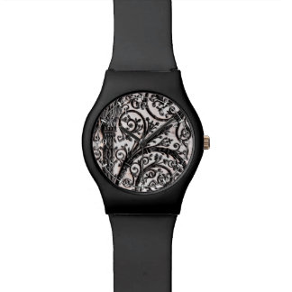 Baroque Vintage Architectural Decorative Ironwork Watch
