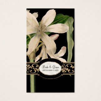 Baroque Vintage Lily Formal Wedding Favor Gift Tag