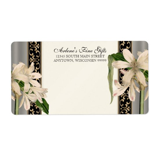 Baroque Vintage Lily Gold Formal Matching Address