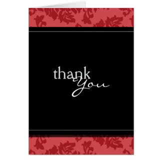 Baroque Vintage Red and Black Thank You Card