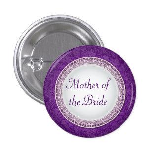 Baroque Violet Plaque Wedding Role Button