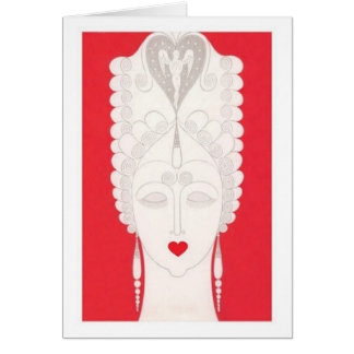 Baroque Woman Card