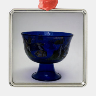 Barovier Cup', marriage cup with painted Christmas Ornament