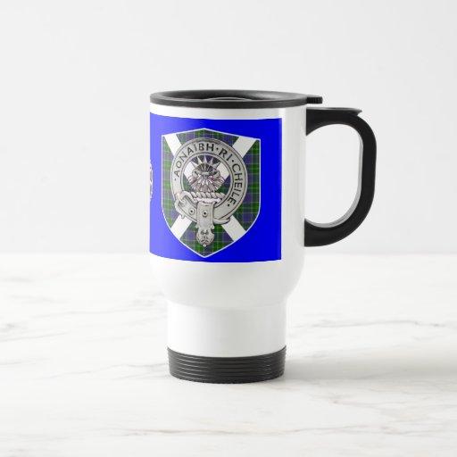 Barr/cameron tartan/crest stainless steel travel mug