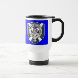 Barr/cameron tartan/crest travel mug