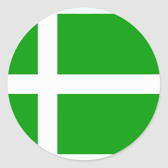Barra, United Kingdom flag Classic Round Sticker