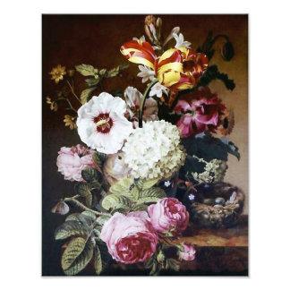 """Barraband """"Still Life Flowers with Bird Nest"""" Art Photo"""