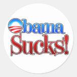 Barrack Obama Sucks Round Stickers