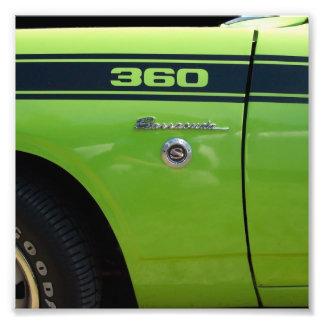 Barracuda 360 sport classic car image photo print