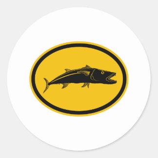 Barracuda Fish Round Sticker