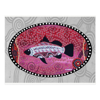 Barramundi Red Dreaming Postcard
