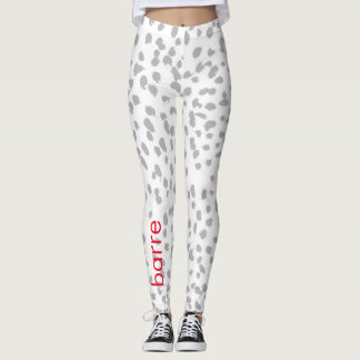 Barre gray leopard leggings